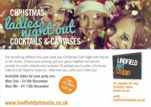 Christmas Cocktails and Crafts Evenings @ Lindfield Art Studio